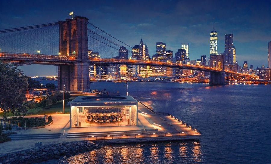 Vue de Manhattan de nuit